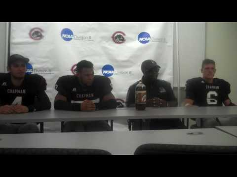 Football Press Conference vs. Occidental