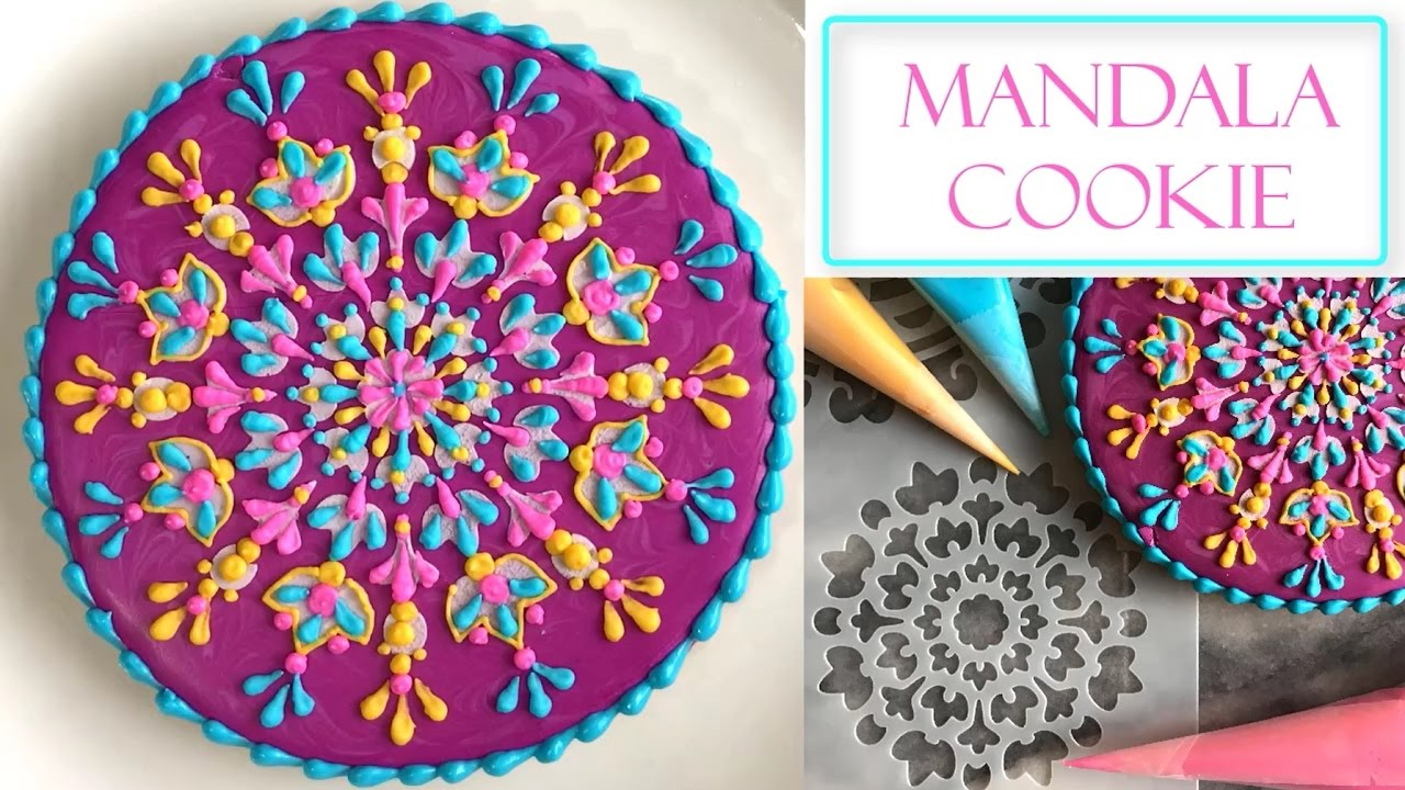 How To Decorate A Flower Mandala Cookie Stencil Henna Designs