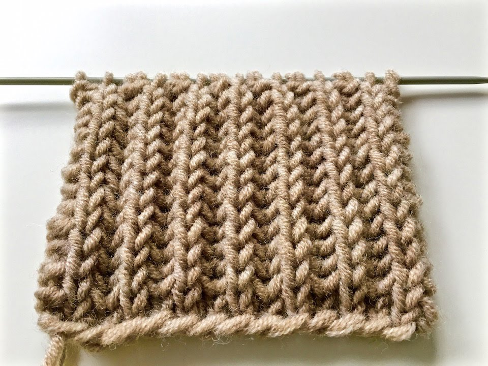 knitting patterns BRIOCHE STITCH / le point de tricot cOte anglaise / ???????...