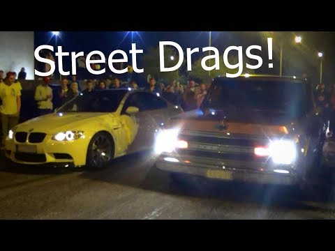 Street Drag Racing & Big Burnouts! - Vantaa Night Cruising 2017