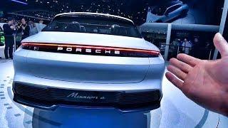 Тесла Отдыхает?! Новый Porsche – 600 Сил, 3.5 До 100, 500 Км Пробега! Обзор Mission E Cross Turismo.