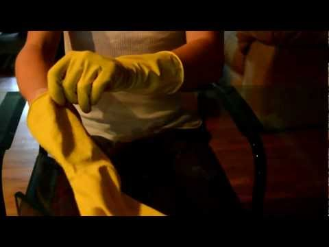 Margot Robbie in Pink Rubber Gloves from YouTube · Duration:  7 seconds