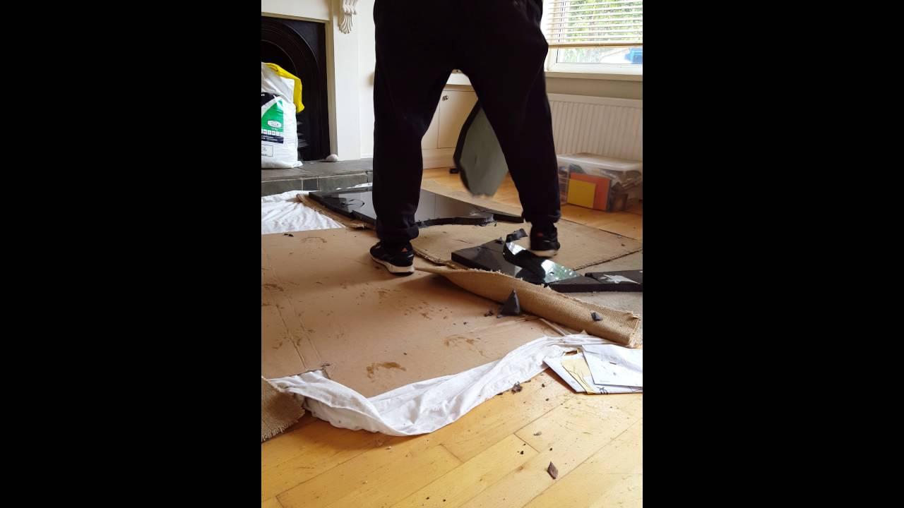 Removing Breaking Granite Worktops Countertops