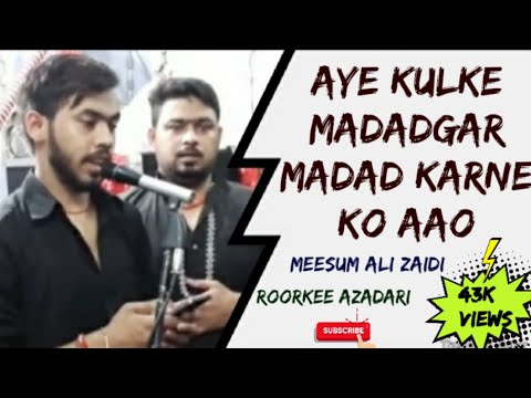 Ai Kul Ke Madadgar Madad Karne Ko Aao Ya Fatima Zahra Mere Baba Ko Bachao. Nauha By Meesam Ali Zaidi