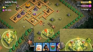 Clash of clans- santa gift on goblin picnic base