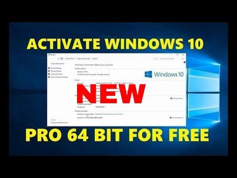 Activate Windows 10 Pro Free Product Key 64 Bit 2018 | Permanently