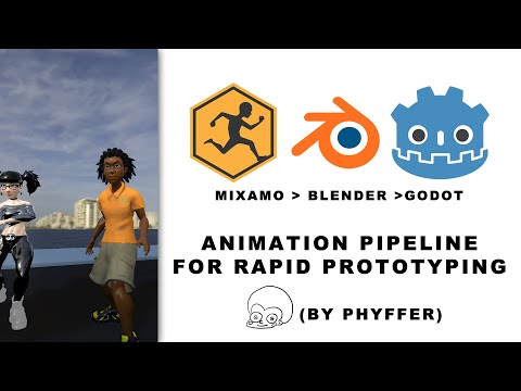 Mixamo, To Blender, To Godot Engine  Animation Pipeline for