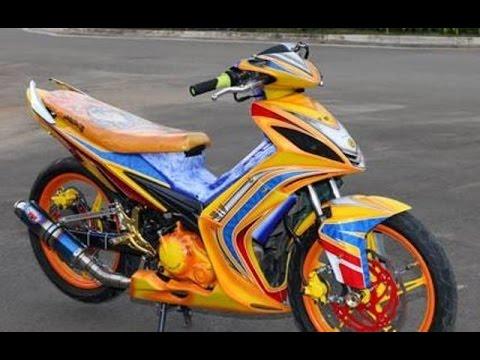 Motor Trend Modifikasi | Video Modifikasi Motor Yamaha Jupiter MX Airbrush Terbaru Part 5