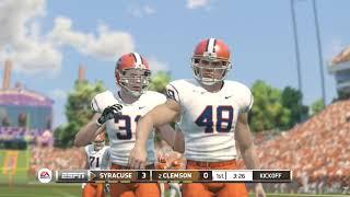 NCAA Football 19 NCAA Football 14 2018 2019 Roster Gameplay Syracuse vs Clemson