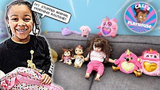 Stuffed Animals Morning Routine | Cali's Playhouse