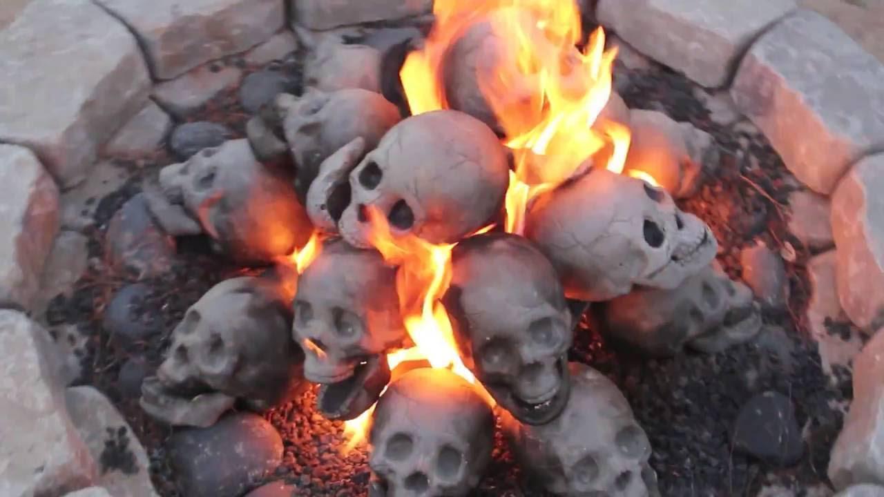 "48"" Skull Fire Pit - YouTube"