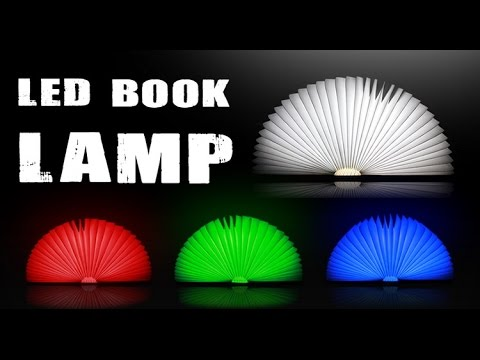 Creative Folded Book Style LED Lamp Color Lights Version,not Lumio White Book  Lamp