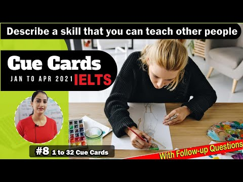 Describe A Skill That You Can Teach Other People   Ielts Latest Cue Cards   8 Band