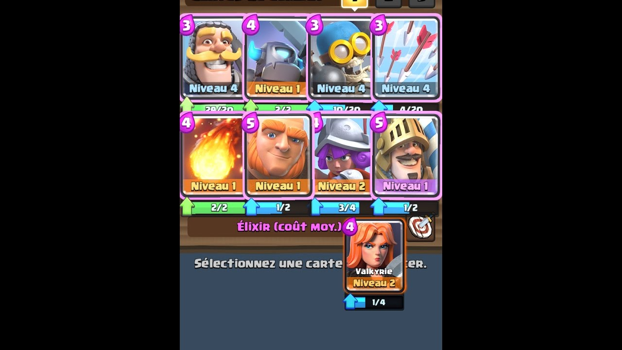 Deck mega incroyable clash royal ar ne 1 youtube for Deck arene 6 miroir