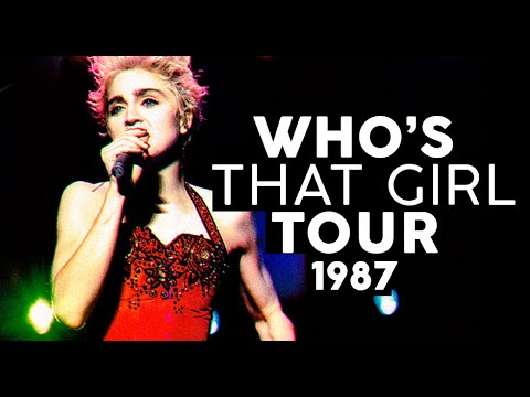WHOS THAT GIRL TOUR 1987  Turnês Madonna