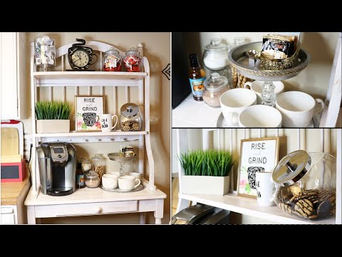COFFEE STATION ORGANIZATION AND DIY IDEAS