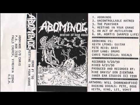 Abominog - Resting in Your Grave [Full Demo] 1990