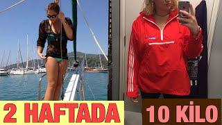 2 Haftada Nasıl 10 Kilo Verdim / Sohbet, Motivasyon, Gerçekler, Diyet Listem, Spor Rutinim Video