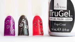 Экспресс дизайн ногтей дотсом с гель лаками EzFlow TruGel. Точечный маникюр