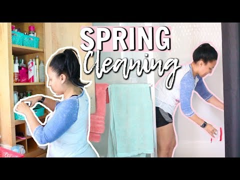 ULTIMATE SPRING CLEAN WITH ME 2018 | EXTREME CLEANING MOTIVATION | MASTER BATHROOM | Page Danielle