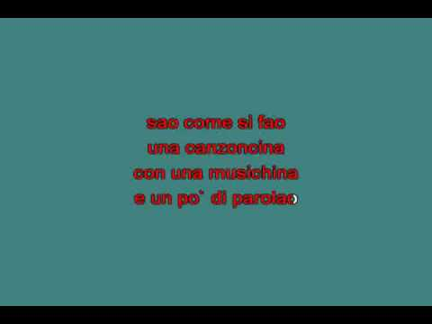 Renzo Arbore   Cacao meravigliao [karaoke]