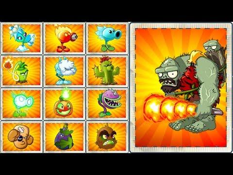 PVZ 2 Every Premium PlantMax Level  vs Jurassic Gargantuar Plants vs Zombies 2