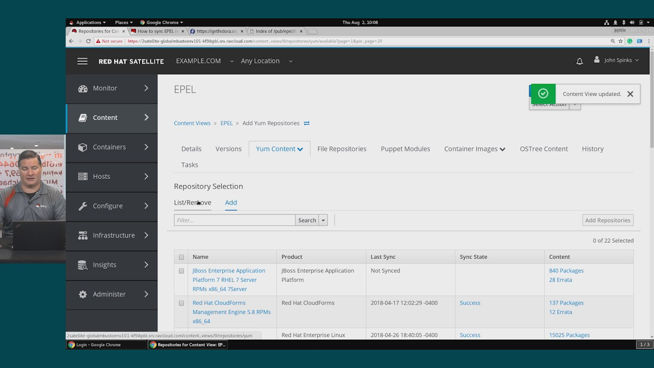 Patching And Software Management Using Red Hat Satellite And Demonstration Youtube