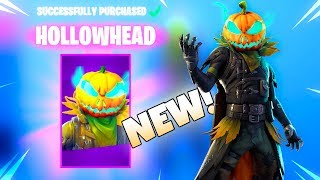 NEW! PUMPKIN HEAD SKIN IS HERE! Hollowhead (New Item Shop) Fortnite Battle Royale