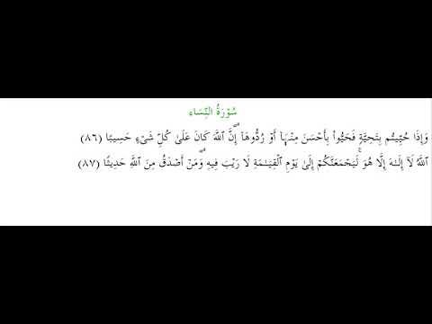 SURAH AN-NISA #AYAT 86-87: 15th May 2020