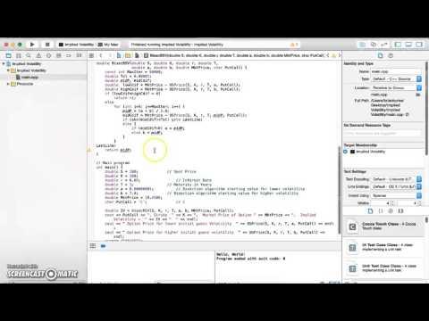 Implied Volatility Using Xcode C++