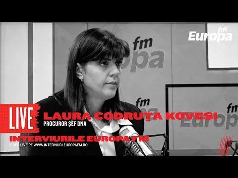Laura Codruța Kövesi la Interviurile Europa FM