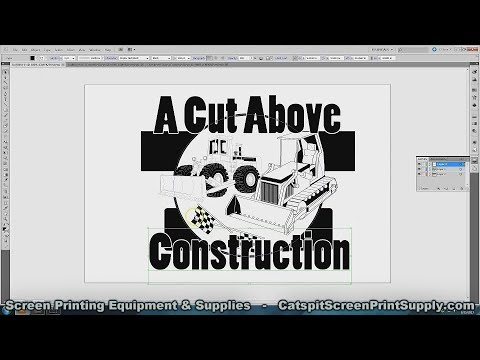 How To Create Screen Printing Artwork With Vector Clip Art, Shapes & Fonts