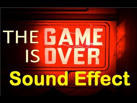 Game Over Sound Effects All Sounds