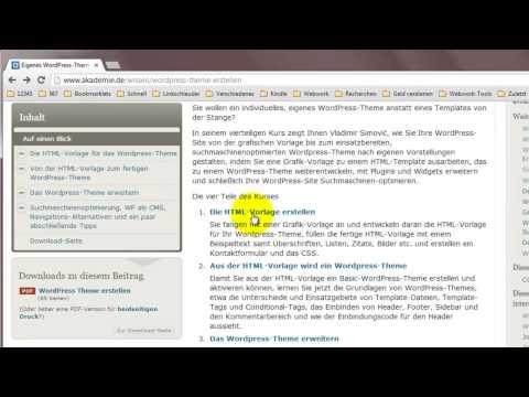 WordPress: Eigenes Theme Erstellen