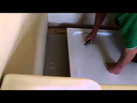 How To Install A Shower Base On A Wooden Floor.Toms Top Tips Installing A Shower Base