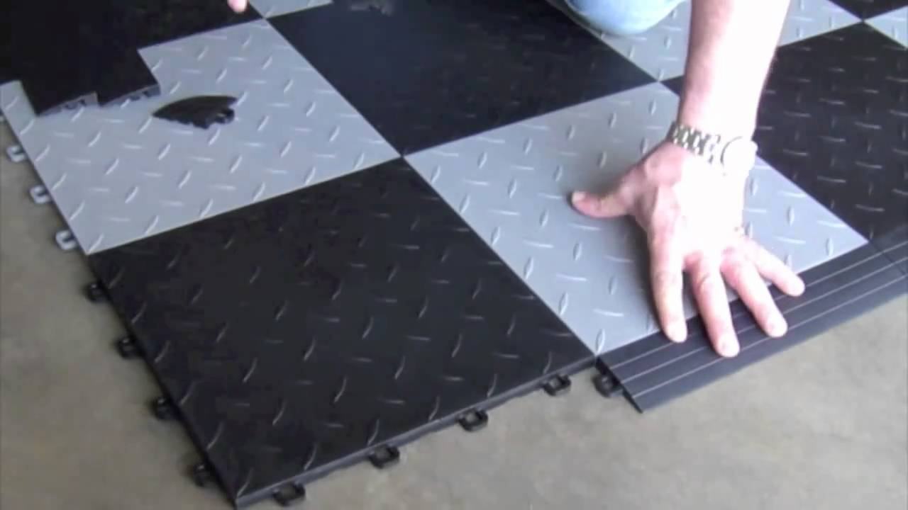 interlocking floor tiles installing youtube. Black Bedroom Furniture Sets. Home Design Ideas