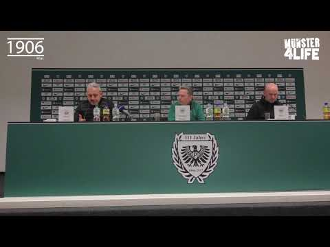 Pressekonferenz SC Preußen Münster 2:0 Hansa Rostock - Saison 2017/2018 3.Liga