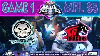 GAME 1 - EXECRATION vs SGD OMEGA | MPL PH Season 5