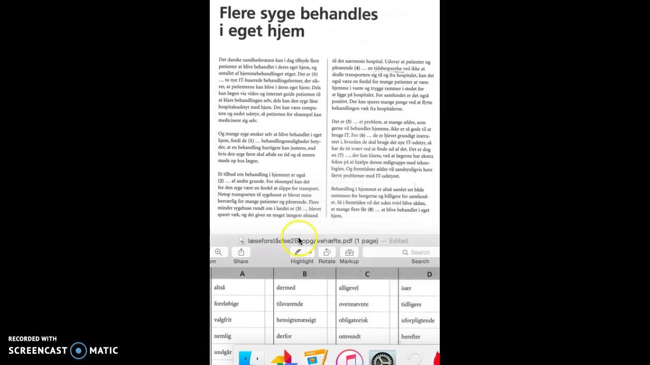 Gennemgang af et eksempel på en opgave i Læseforståelse 2B til Prøve i Dansk 3