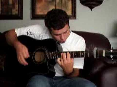 Justin Cellum singing Saving grace