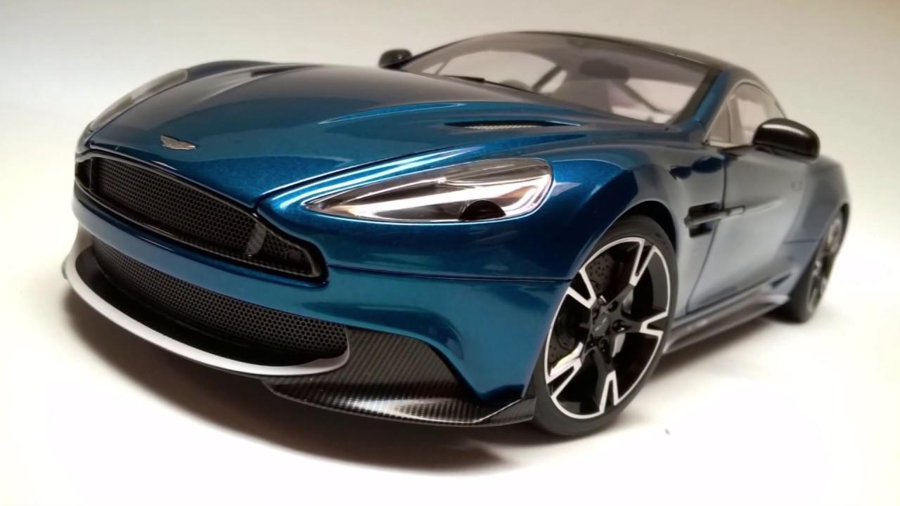 Aston Martin Vanquish S Model Car 1 18 Scale By Autoart Youtube