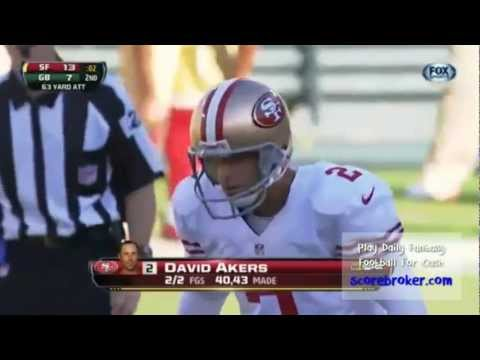 DAVID AKERS NAILS 63-YARDER FOR NFL RECORD