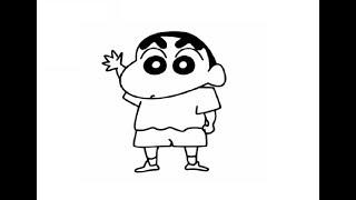 cartoon drawing easy chan shin draw