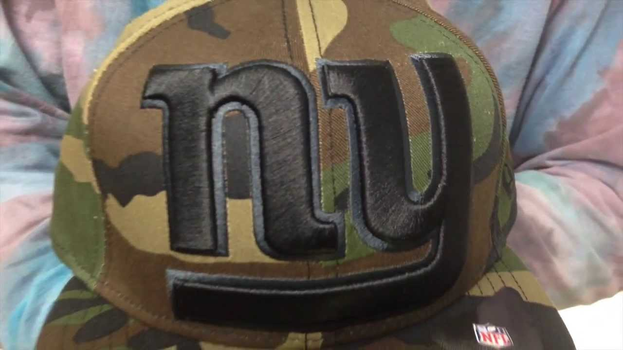 7398f8f0 New York NY Giants NFL MIGHTY-XL Army Camo Fitted Hat by New Era