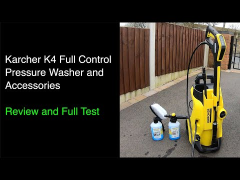 karcher K4 Full Control Pressure Washer and Accessories - Full Test and Review