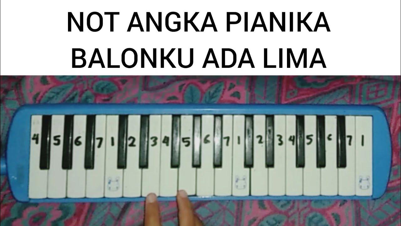 Not Angka Lagu Balonku Pianika Recorder Keyboard Cute766