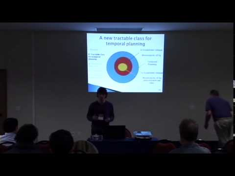 "ICAPS 2012: Session Ia on ""Temporal Planning & Scheduling"""