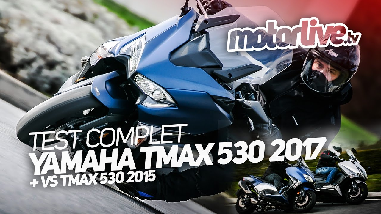 yamaha tmax 530 2017 test complet vs tmax 530 2015 youtube. Black Bedroom Furniture Sets. Home Design Ideas