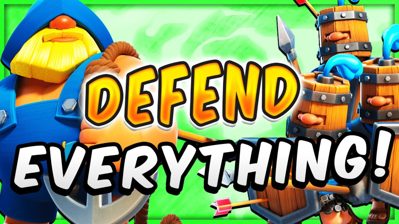This BROKEN ROYAL RECRUITS Deck Defends EVERY PUSH! — Clash Royale