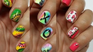 3 Easy Nail Art Designs for Short Nails Freehand #4